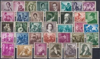 1958-1965 Paintings 35 diff stamps with sets, 1958-1965 35 klf Festmény bélyeg, közte teljes sor