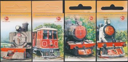 Tourism steam engine 4 stamp booklets, 25 éves a Turisztikai gőzmozdony 4 db bélyegfüzet