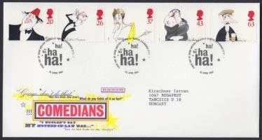 1998 Kariakatúrák, híres humoristák sor Mi 1749-1753 FDC-n