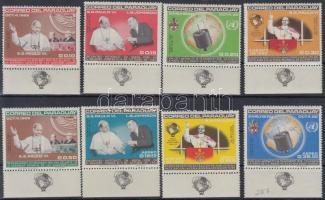 Pope Paul VI's visit to the UN margin set, VI. Pál pápa látogatása az ENSZ-ben ívszéli sor ívszélen földgömb