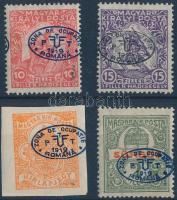 Debrecen I. 1919 4 klf érték Bodor vizsgálójellel (11.300)