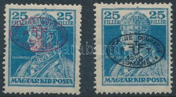 Debrecen I. 1919 2 klf Károly 25f Bodor vizsgálójellel (23.500)