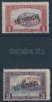 Debrecen I. 1919 Parlament/Köztársaság 1K + 3K piros felülnyomással, Bodor vizsgálójellel (6.500)
