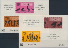1968 Nyári Olimpia (IV.) 2 db blokk Mi 12, 14
