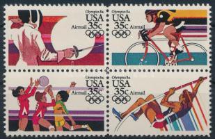 1983 Nyári Olimpia, Los Angeles (IV.) sor 4-es tömbben Mi 1665-1668