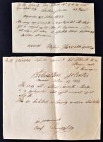 1877 2 db magyar nyelven írt felváltási jelentés