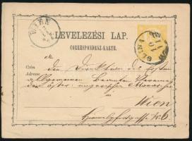 1871 2kr díjjegyes levelezőlap GLINA