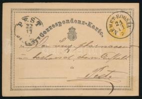 1870 2kr díjjegyes levelezőlap NÉMET-BOGSÁN