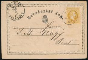 1870 2kr díjjegyes levelezőlap (MORITZF)ELD