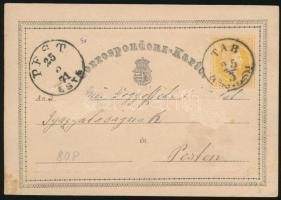 1871 2kr díjjegyes levelezőlap TAB