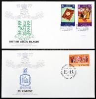 1977 II. Erzsébet ezüst jubileuma alkalmi borítékok gyűjteménye speciális albumban