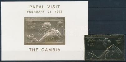 Papal visit + block, II János Pál pápa látogatása + blokk