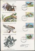 1978 WWF: Veszélyeztetett állatok sor Mi 463-466 4 db FDC-n