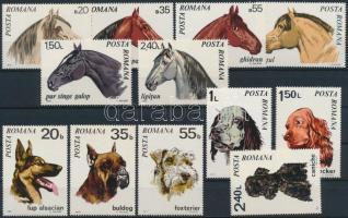 1970-1971 2 Animals set, 1970-1971 2 klf Állat sor
