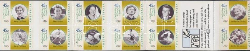 1998 Olimpiai bajnokok öntapadós bélyegfüzet MH 117 (Mi 1693-1704)