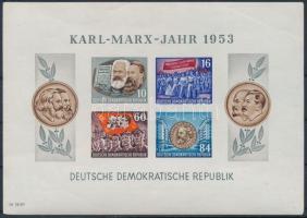 1953 Karl-Marx év blokk Mi 9 B (saroktörés)