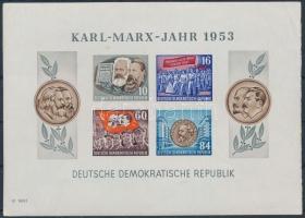 1953 Karl-Marx év blokk Mi 9 B (betapadás)