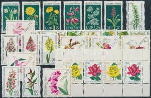 1968-1978 4 klf Virág sor + 1 bélyegfüzetlap