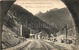 Modane, Entrée du Tunnel du Mont-Cenis / railway tunnel entrance of Mont-Cenis, railway tracks