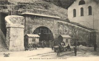 Mont Cenis, Entrée du Tunnel chemin de fer, coté Italie / railway entrance tunnel, former Italian side
