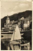 Lillafüred, Tó és Palota Szálló, vitorláshajó