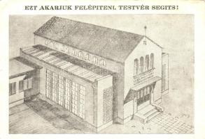 Budapest VIII. Külsőjózsefvárosi Református Missziós Egyház építési segélylapja; Kőris utca 13.