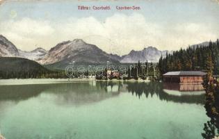 Tátra, Tatra; Csorba tó, kiadja Cattarino S. utóda Földes Samu / lake (ázott / wet damage)