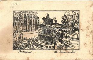 Budapest I. Szent István szobor  (vágott / cut)