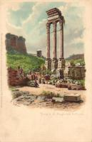 Rome, Roma; Tempio di Castore & Polluce / Temple of Castor and Pollux, Meissner & Buch Serie 1018., litho, s: G. Gioja (EK)