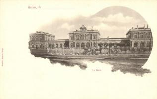Reims, La Gare / railway station, horse carriage