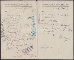 1946-47 Receptek, dr. Donhoffer Szilárd egyetemi c. Rk. tanár, Pécs, 2db + dr. Bokrétás András egyet. magántanár