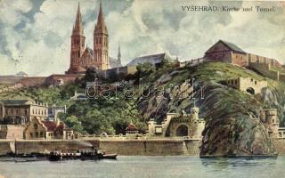 Praha, Prag; Vysherad, Kirche und Tunnel / historical fortress, church and tunnel