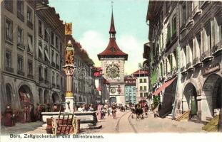 Bern, Zeitglockenturm und Bärenbrunnen / clocktower, fountain