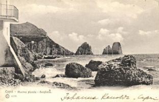 Capri, Marina piccola, Scogliera / port, rock