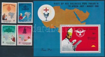 VI. Pál pápa látogatása sor + blokk Pope Paul VI's visit set + block