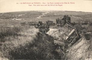 Bras-sur-Meuse, Cote du Poivre, Train ruins
