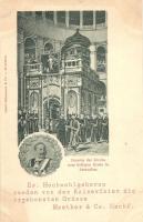 Jerusalem, Inneres der Kirche des heiligen; Ew. Hochwohlgeboren senden von der Kaiserfeier die ergebensten Grüsse / church interior, Wilhelm II