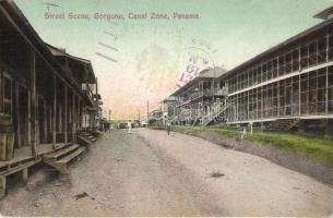 Panama Canal Zone, Gorgona, Street scene (EK)