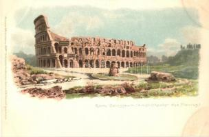 Rome, Roma; Colosseum, Emphitheater des Flavius, Meissner & Buch Rom 12 Künstlerpostkarten Serie 1018. litho s: G. Gioja