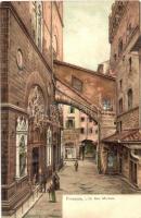 Firenze, Florence; LOr San Michele, litho