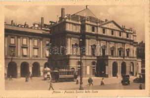 Milano, Milan; Teatro della Scala / theatre, tram