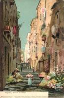 Naples, Napoli; Gardini di Chiaia, 14 Sommer-Napoli litho