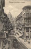 Milano, Milan; Corso Vittorio Emanuele, tram