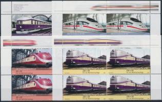 2006 Vonatok sor ívsarki négyestömbben Mi 2560-2563