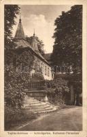 Teplice, Schlossgarten, Kollastuk-Türmchen / castle gardens, Kollastuk-turret