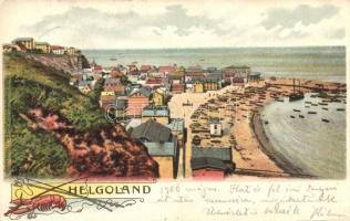Helgoland, view of the harbor, lobster with fishing tools (EK)