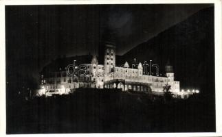 Lillafüred, Palota szálló, éjszaka, kivilágítva