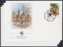1991 WWF: Antilopok sor Mi 1231-1234 4 FDC-n