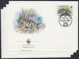 WWF Fishes set 4 FDC, WWF: Halak sor 4 FDC-n