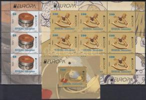 Europa CEPT, Historical games mini sheet set + block, Europa CEPT, Történelmi játékok kisív sor + blokk